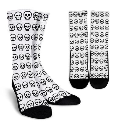 Skull Madness (Black) Crew Socks