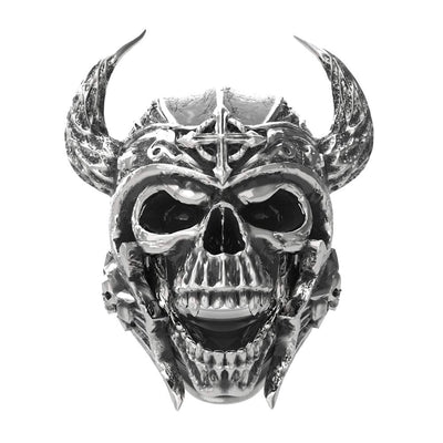 Viking Warrior Skull Ring
