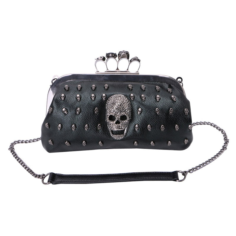 Sugar Skull Rivet Bag For Women