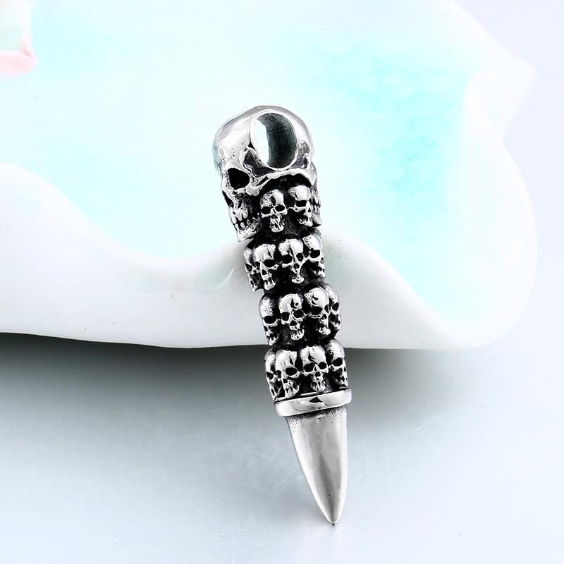 Skull Bullet Necklace For Men