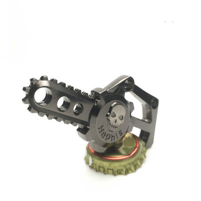 Chainsaw Skull Bottle Opener Keychain