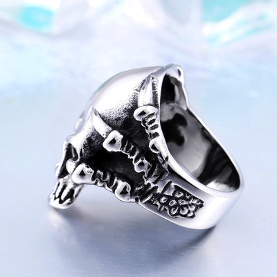 Claw Thinking Skull Ring For Men