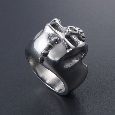 Punk Pirate Skull Ring For Men