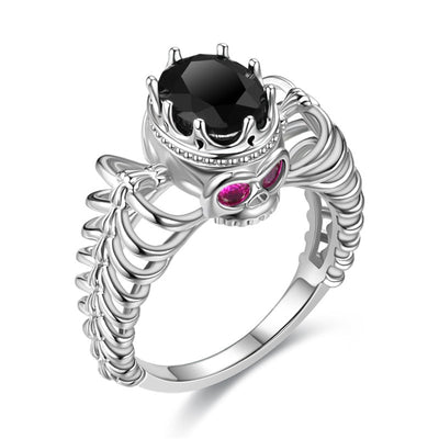 Love Rib Skull Ring For Women