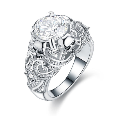 Tribal Crystal Skull Ring™ For Women