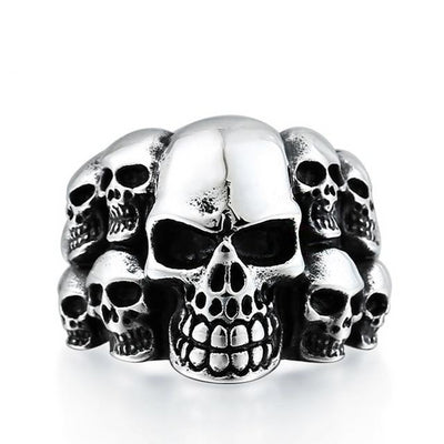 Skull Eleven Ring For Men
