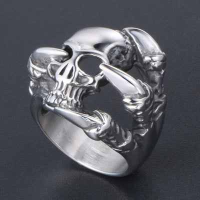 Four Claw Skull Ring For Men