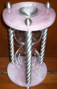 Heirloom Hourglass Unity Sand Ceremony Hourglass The Heart Stone Rose Quart Unity Sand Ceremony Heirloom Hourglass