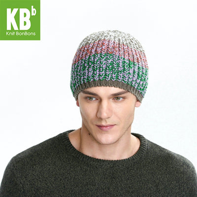 2017 KBB Spring    Comfy Cable Red Green Croquet Twist Design Yarn Knit Delicate Women Men Winter Hat Beanie Thicken Cap - Dropshipper US