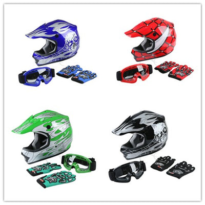 DOT Motorcycle helmet Youth Kids motocross Dirt Bike Offroad Street Helmet Goggles+Gloves S/M/L - Dropshipper US