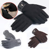Winter Mens Full Finger Smartphone Touch Screen Cashmere Gloves Mittens - Dropshipper US