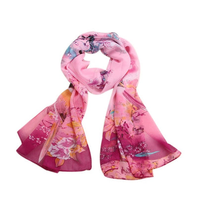 Feitong Fashion Vintage Silk Scarf Women Lady Long Soft Chiffon Scarf Wrap Shawl Stole Brand Scarves echarpes foulards femme