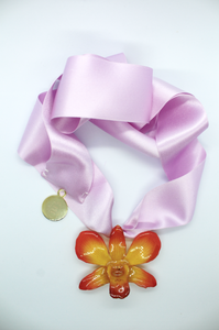 Camp Necklace - Sunrise Dendrobium Orchid