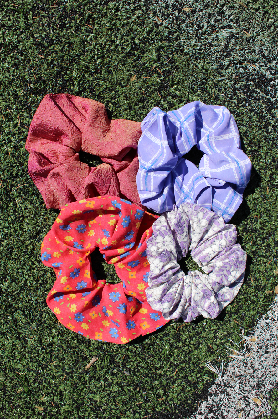 Fabric Scrunchie - Vintage Printed