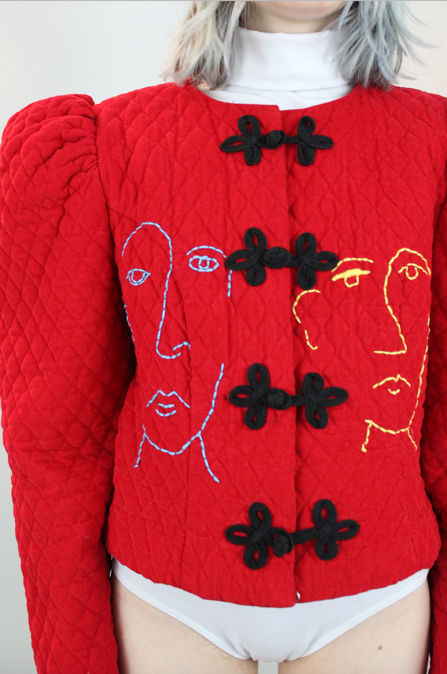 ROMEO jacket with portrait embroidery
