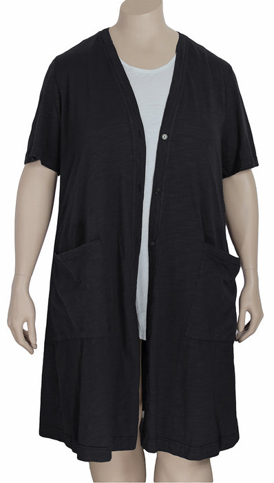 Kleen Cotton Jersey Elbow Sleeve Cardigan / Duster