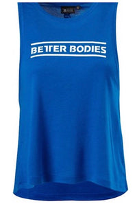 Better Bodies Strong Blue Deep Cut Tank Top