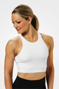 Better Bodies White Chelsea Halter Top