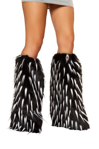 J-Valentine White Spiked Rave Fluffies