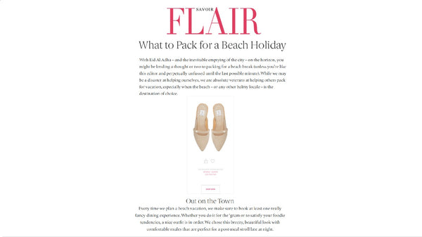 Lee Pfayfer Mules are featured in Savoir Flair