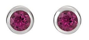 Gemstone Bezel Set Studs