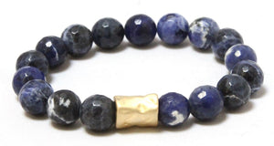 Blue Moon Stack: Blue Gold and Bold Bracelets