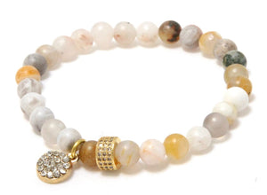 Desert Bloom Stack: Rosey Sparkly and Flowery Bracelets Bracelets