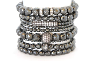 Liquid Gun Metal Stack - Your Goddess Stack Bracelets