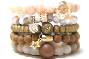 Peonies and Peeptoes Bracelet Stack Bracelets