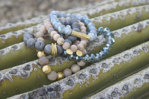 The Dusk Stack -Grey Blush Bracelet Stack Bracelets