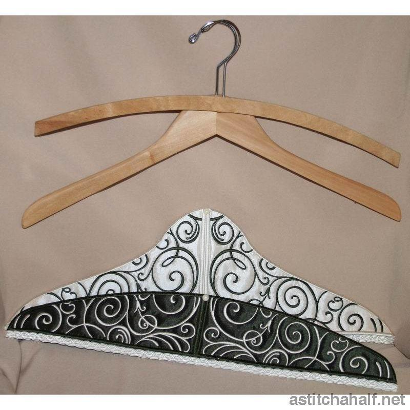 Art Deco Hanger Covers - a-stitch-a-half