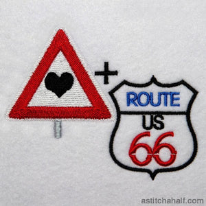 I Love Route 66 - a-stitch-a-half