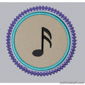 Music Notes Combo - a-stitch-a-half