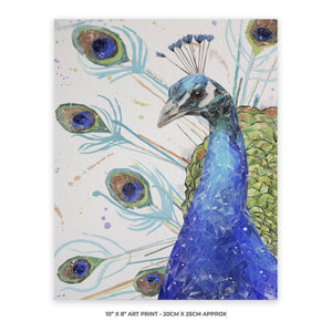 """Percy"" The Peacock 10"" x 8"" Unframed Art Print"