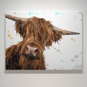 """Mac"" The Highland Bull Canvas Print"