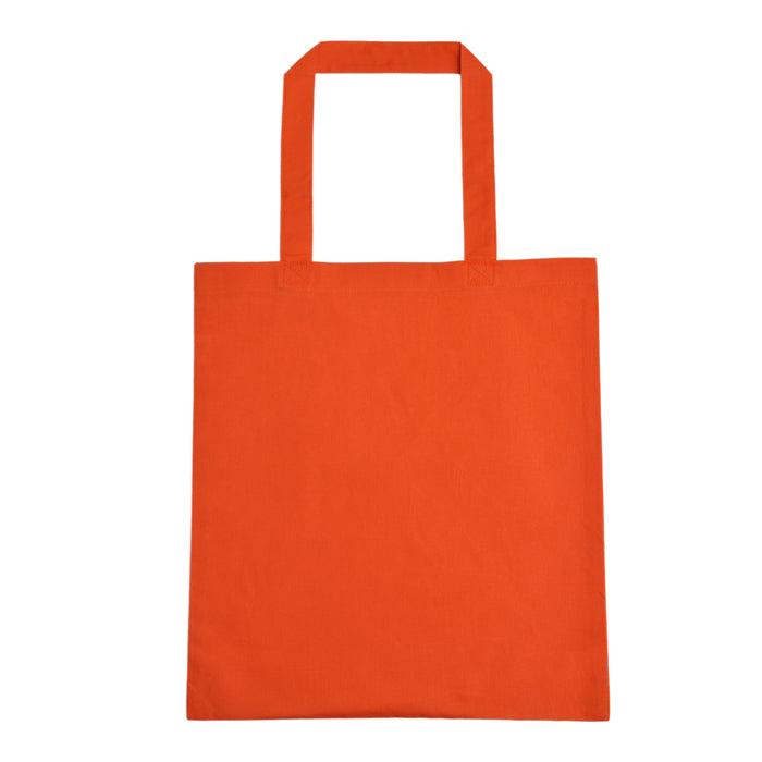 Wholesale blank tote bag orange