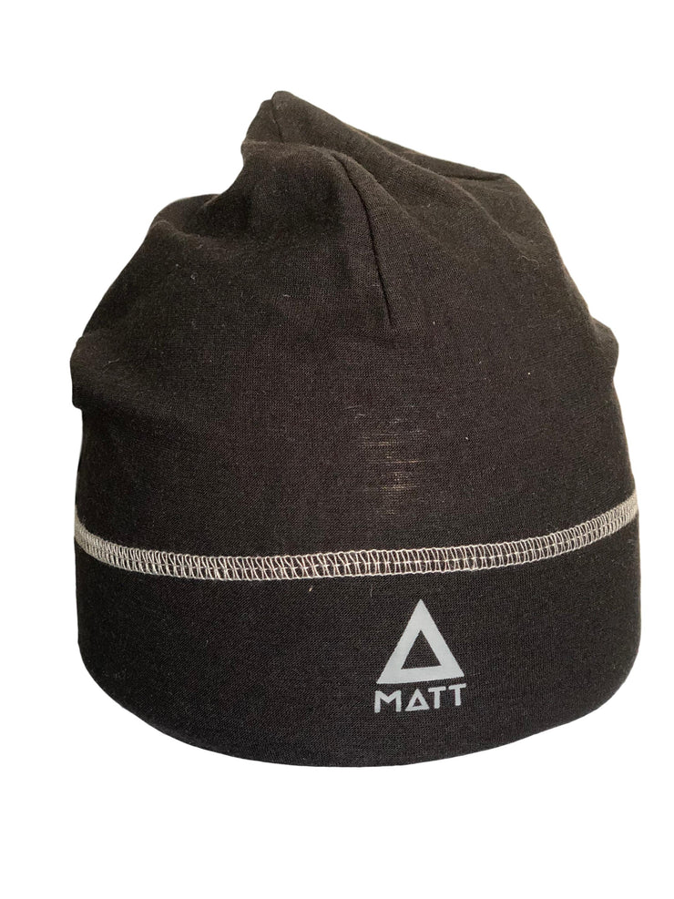 Matt Light Merino Wool Beanie Strickmütze