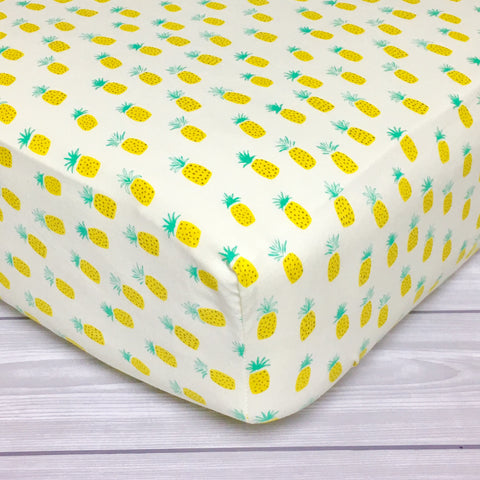 Pineapple Crib Sheet or Changing Pad Cover