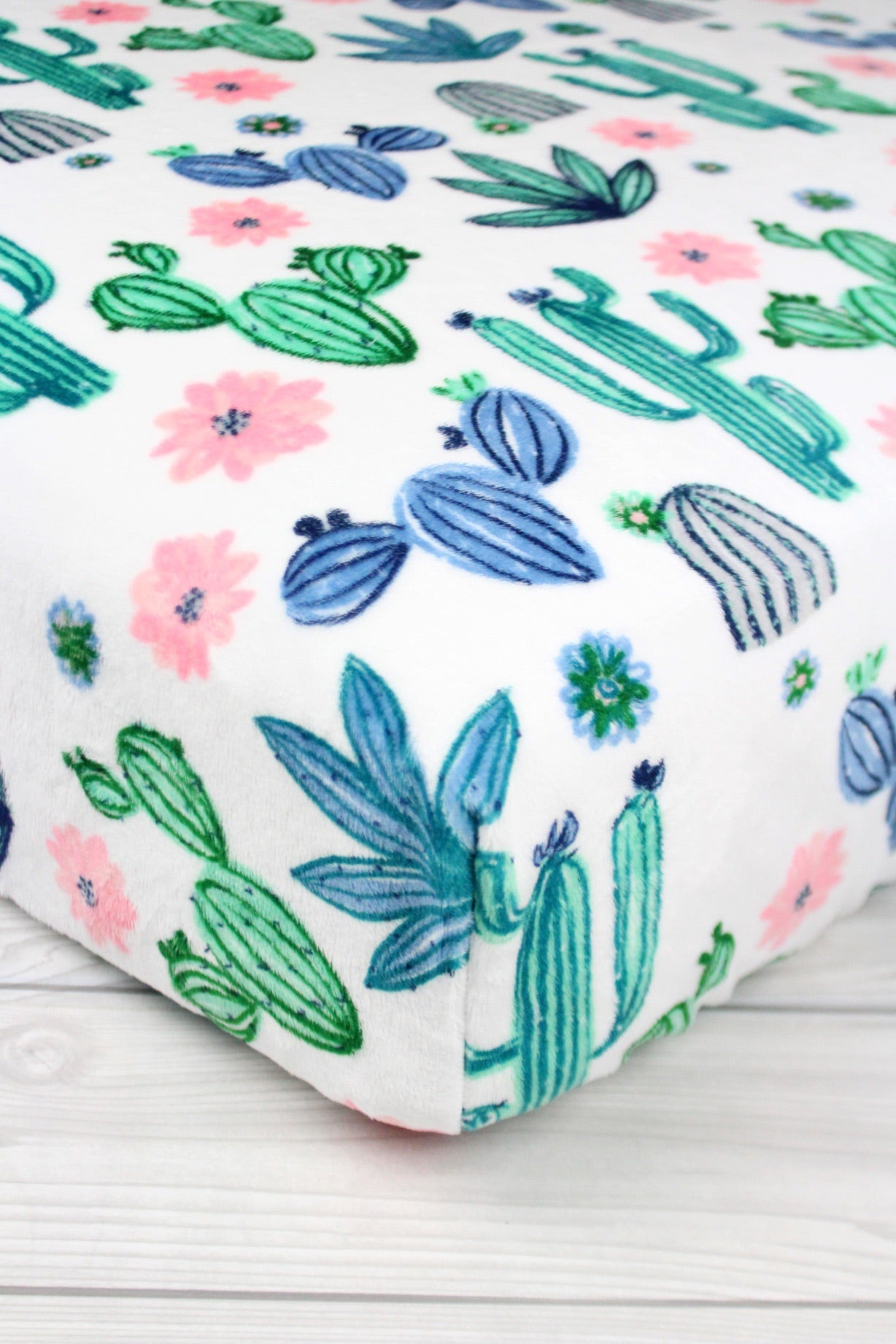 Cactus Minky Crib Sheet or Changing Pad Cover