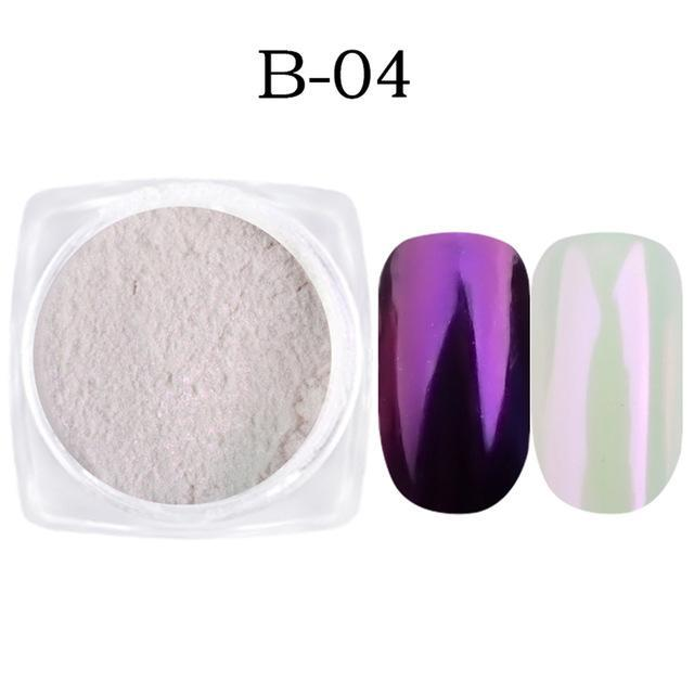 1G Nail Art Glitter Chrome Powder Decorations Mirror Nail Glitter Pigment Powder Gold Blue Purple-Nails & Tools-Sara Nail Art Products Wholesale-B04-EpicWorldStore.com