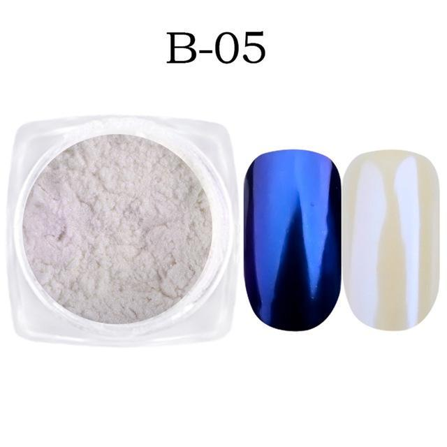 1G Nail Art Glitter Chrome Powder Decorations Mirror Nail Glitter Pigment Powder Gold Blue Purple-Nails & Tools-Sara Nail Art Products Wholesale-B05-EpicWorldStore.com