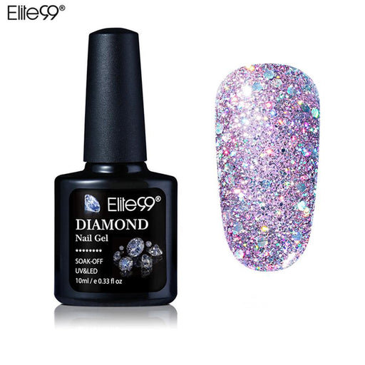 Elite99 10Ml Diamond Nail Gel Glitter Led Uv Gel Manicure Shiny Sequins Soak Off Gel Nail Polish-Nails & Tools-Elite99 Secret-ZSJ01-EpicWorldStore.com