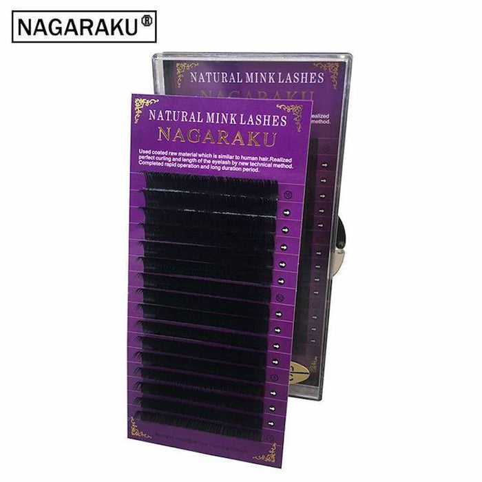 Nagaraku High Quality Eyelash Extension Mink,Individual Eyelash Extension,Natural Eyelashes,Fake-Makeup-NAGARAKU Official Store-J-0.05mm-8mm-EpicWorldStore.com