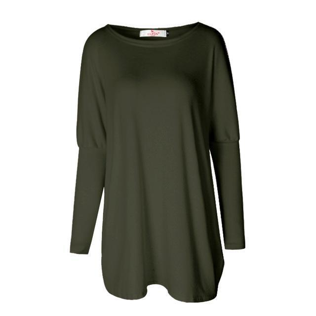 Sweater Tops Women Autumn Winter Long Sleeve Plus Size Pullovers Elegant Women Loose Female-Sweaters-Tiffanyfashion Store-Army Green-S-EpicWorldStore.com