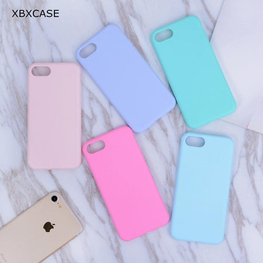Xbxcase Candy Color Tpu Rubber Silicone Case For Iphone 7 7Plus Matte Frosted Soft Cover-Phone Bags & Cases-Shop3389011 Store-Solid black-for iphone 6 6s-EpicWorldStore.com