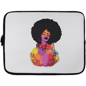 Beautiful Afro Lady Laptop Sleeve - 13 inch