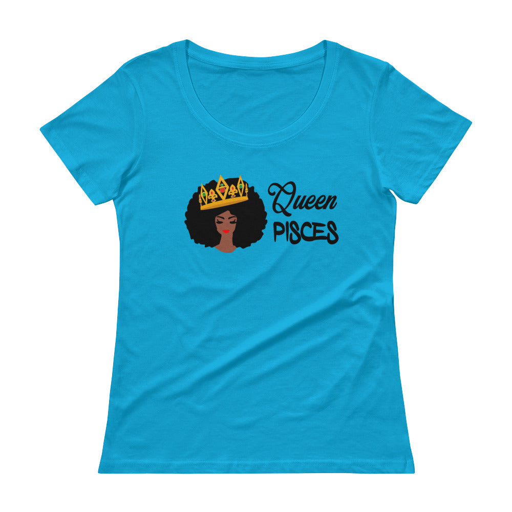 Queen Pisces Scoop Neck Tee
