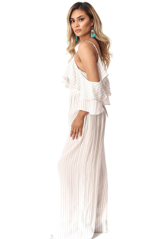 Go With The Flow Stripped Jumpsuit