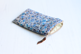 Blue floral Liberty fabric glasses case