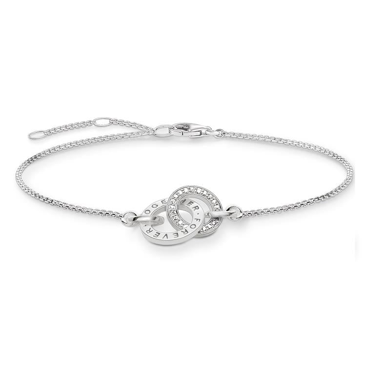 Thomas Sabo Silver Entwined Bracelet A1551-051-14
